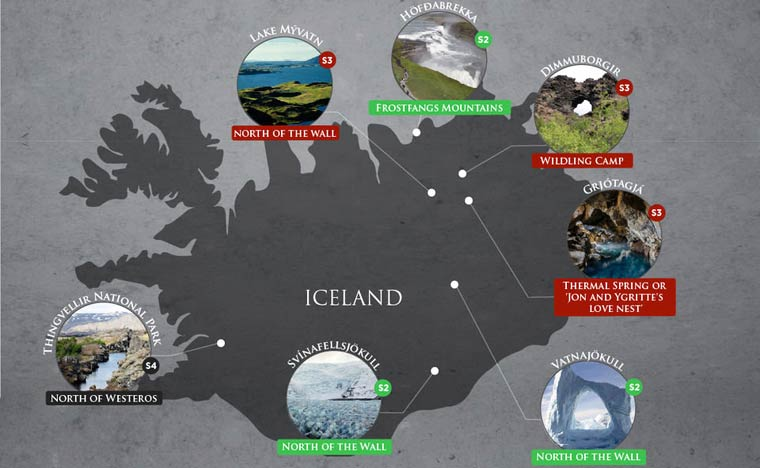 Game Of Thrones Locations Map Saga Travel